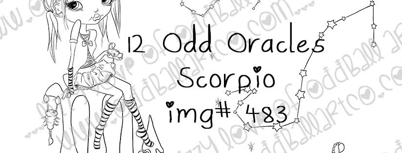 Digi Stamp Twisted Circus 12 Odd Oracles Zodiac Collection Scorpio Image No. 483