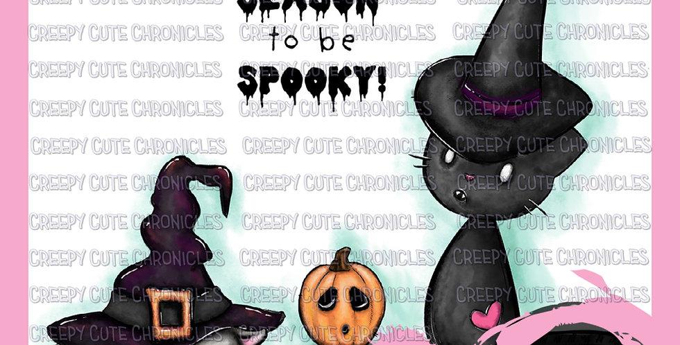 CCC# 125 SPOOKY SEASON DIGI STAMP Creepy Cute Chronicles