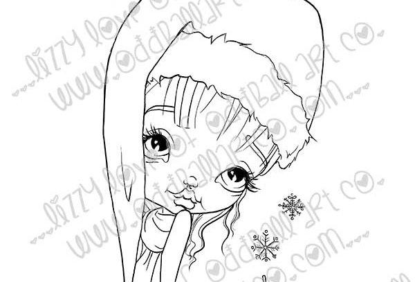 Digital Stam Big Eye Whimsical Christmas Wendy Winter Image No. 392