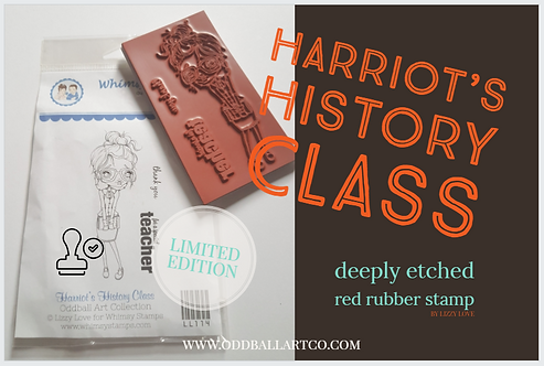 Rubber Stamp Limited Edition Harriot's History Class