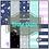 Thumbnail: CCC# 2 SPACE SKULLS DIGI PAPER FULL SET Creepy Cute Chronicles