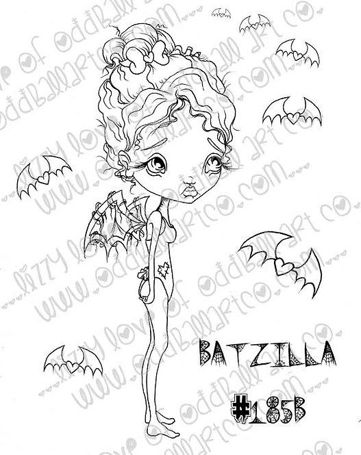 Digital Stamp Creepy Cute Big Eye Bat Fairy Batzilla Image No. 185
