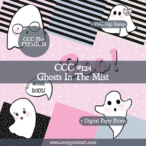 CCC# 124 GHOSTS IN THE MIST DIGI STAMP Creepy Cute Chronicles
