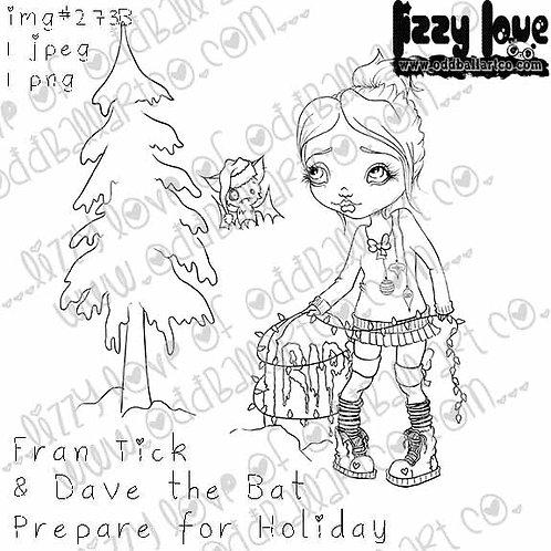 Digital Stamp Fran Tick & Dave the Bat Prepare For Holidays Image No. 273