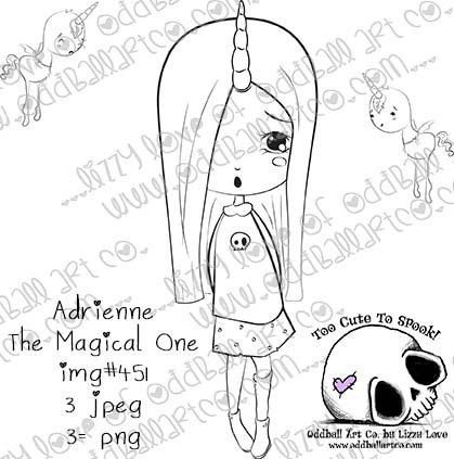 Digi Stamp Adrienne The Magical One Creepy Cute Printable Stamp Set Image No 451