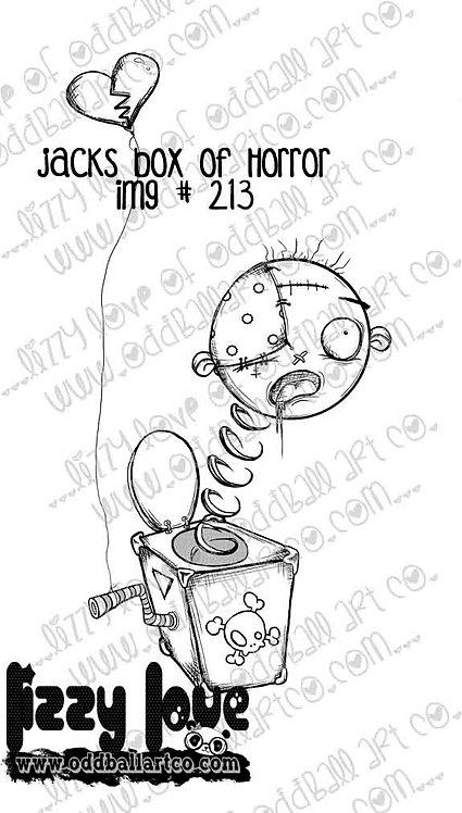 Digital Stamp Creepy Cute Jack in the Box Jacks Box of Horrors Image No. 213