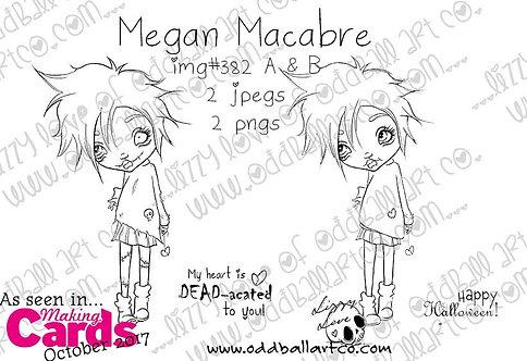 Digital Stamp Big Eye Girl Megan Macabre Image No. 382