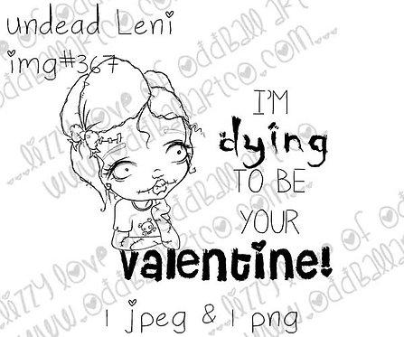 Digital Stamp Zombie Valentine Undead Leni Image No.367