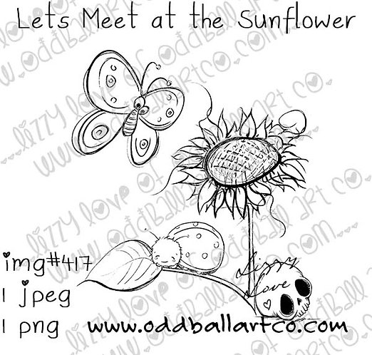 Cute Whimsical Spring Garden ~ Lets Meet at the Sunflower Image No. 417