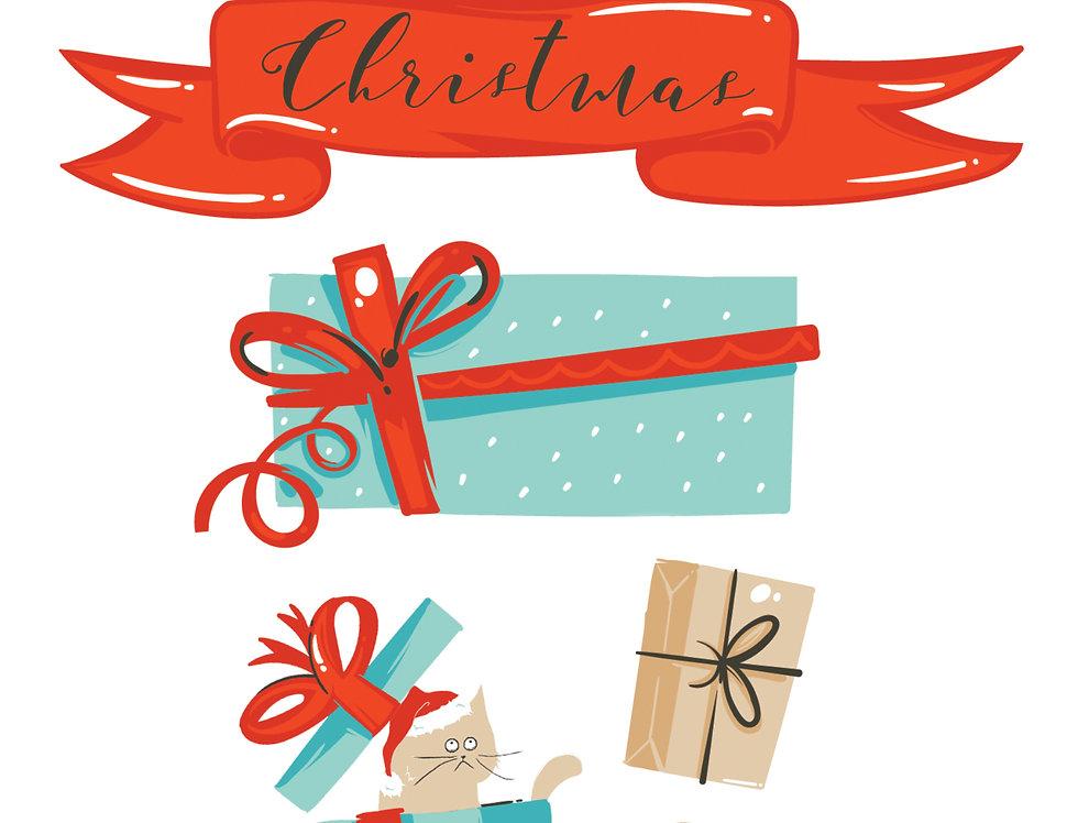 $100 Christmas Gift Card Oddball Art Digital Stamps