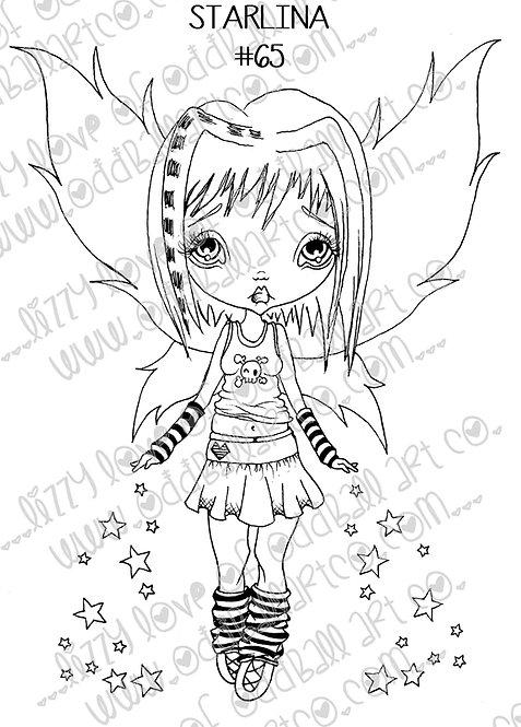 Digital Stamp Big Eye Creepy Cute Fairy Girl Starlina Image No. 65