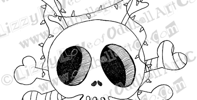 Printable Stamp Creepy Cute Christmas Creep Deer Download Image No 137