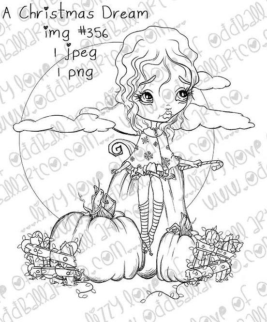 Digital Stamp Creepy Cute Pumpkin Patch A Christmas Dream No.356