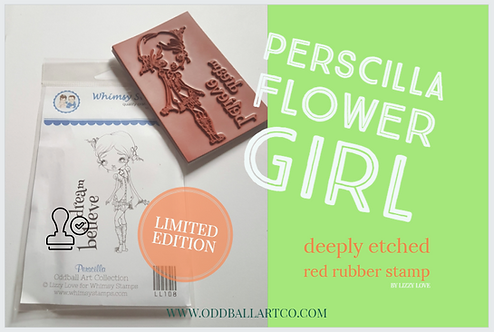 Rubber Stamp Limited Edition Perscilla Flower Girl