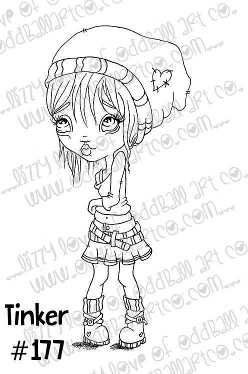 Printable Stamp Big Eye Punk Elf Tinker Digital Download Image 177