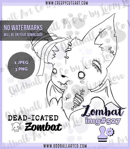 Digi Stamp Creepy Cute Baby Zombie Bat Zombat Image 527