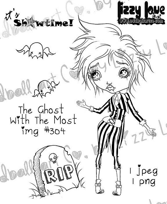 Digital Stamp Big Eye Beetlejuice Tribute The Ghost With The Most Image No. 304