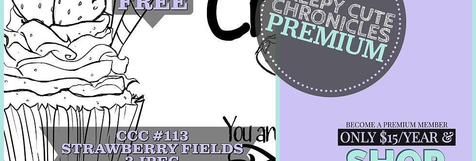 CCC# 113 STRAWBERRY FIELDS DIGI STAMP Creepy Cute Chronicle