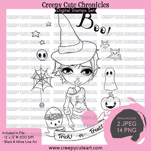 CCC# 128 THIS IS HALLOWEEN DIGI STAMP Creepy Cute Chronicles
