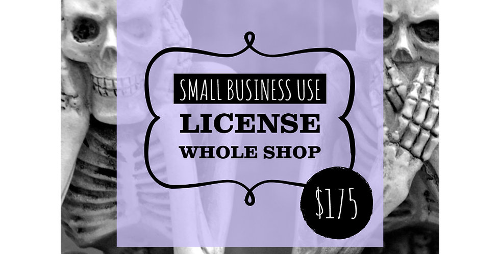 Extended Use Small Business Commercial License WHOLE SHOP