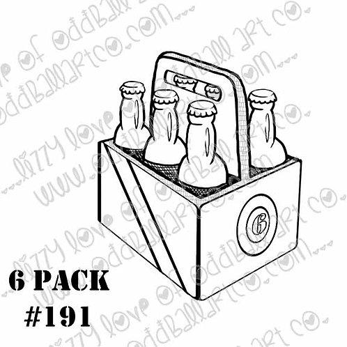 Digital Stamp Oddball Herbivore Beer 6 Pack Image No. 191