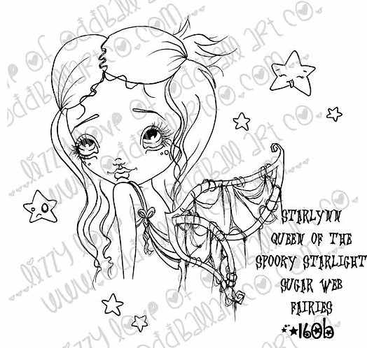 Digi Stamp Starlynn Queen of the Spooky Starlight Sugar Web Fairies Image No 160
