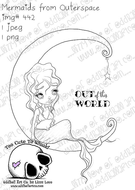 Digital Stamp Mermaids from Outerspace Image No. 442