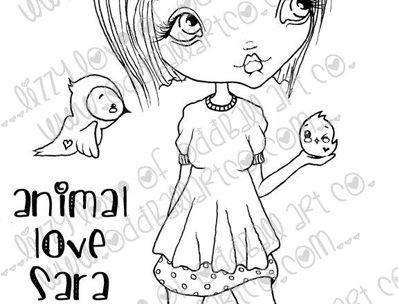 Digital Stamp Animal Love Sara & Friends Image No. 21
