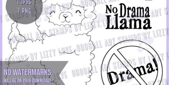 Digi Stamp No Drama Llama Cute & Snarky Llama with Sentiments Image no. 537