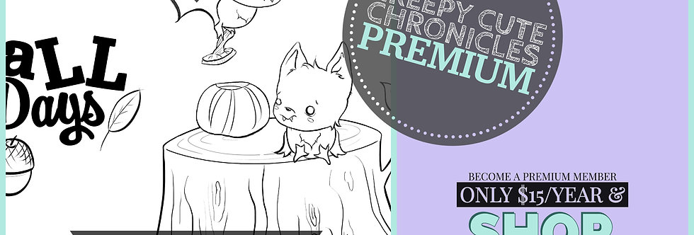 CCC# 121 AUTUMN TRAILS DIGI STAMP Creepy Cute Chronicles