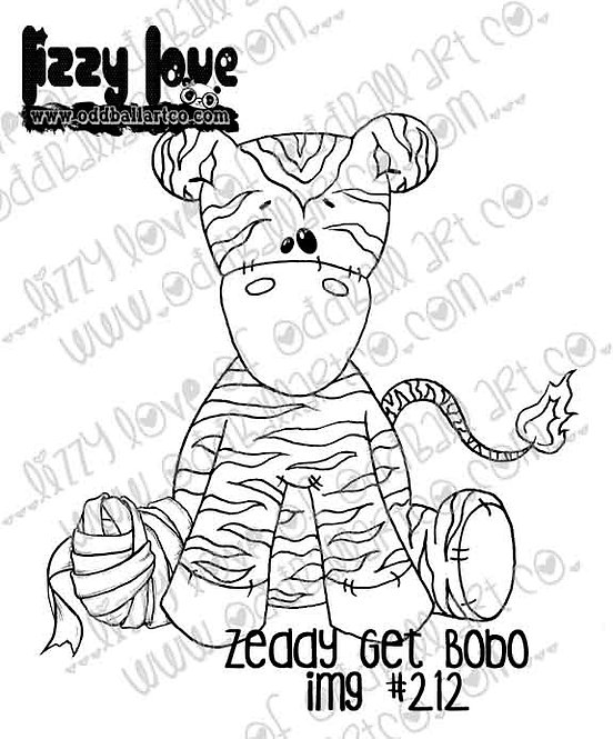 Digital Stamp Cute Ragdoll Zeddy the Zebra Zeddy Get Bobo Image No. 212