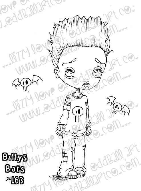 Digital Stamp Big Eye Boy & His Pet Bats Billys Bats Image No. 163