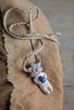 Bambino nuvola - goccia di pioggia blu