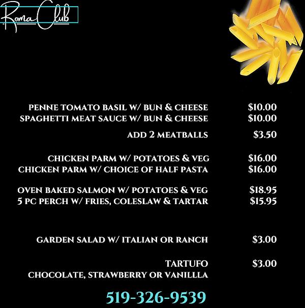 Roma CLub menu.png