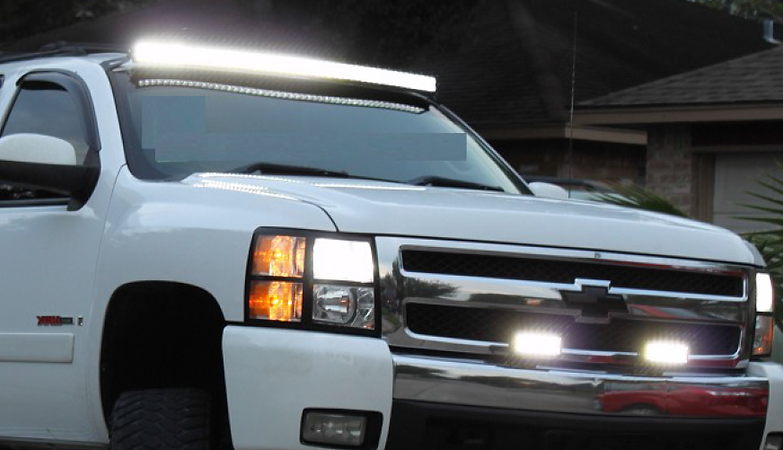 Ledlightshoustontx 52curved 7 led light bar mozeypictures Images