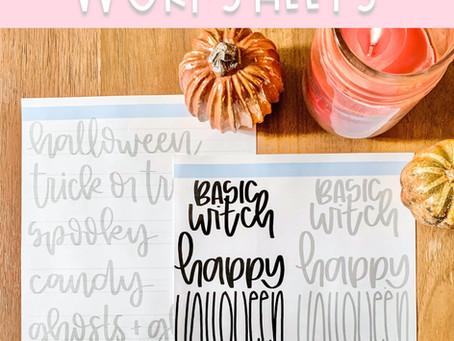 Halloween Hand Lettering FREEBIE