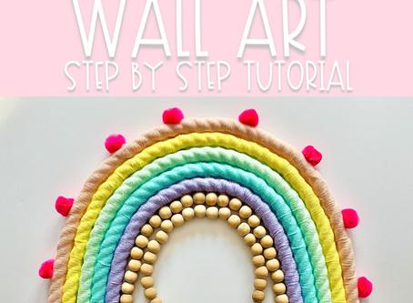 DIY Rainbow Wall Art