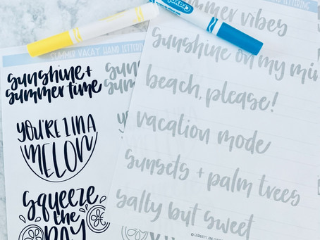Summer Vacay Hand Lettering Freebie