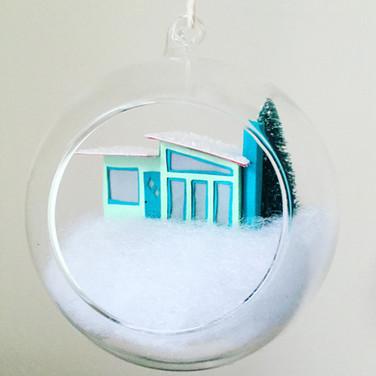 Winter Putz House