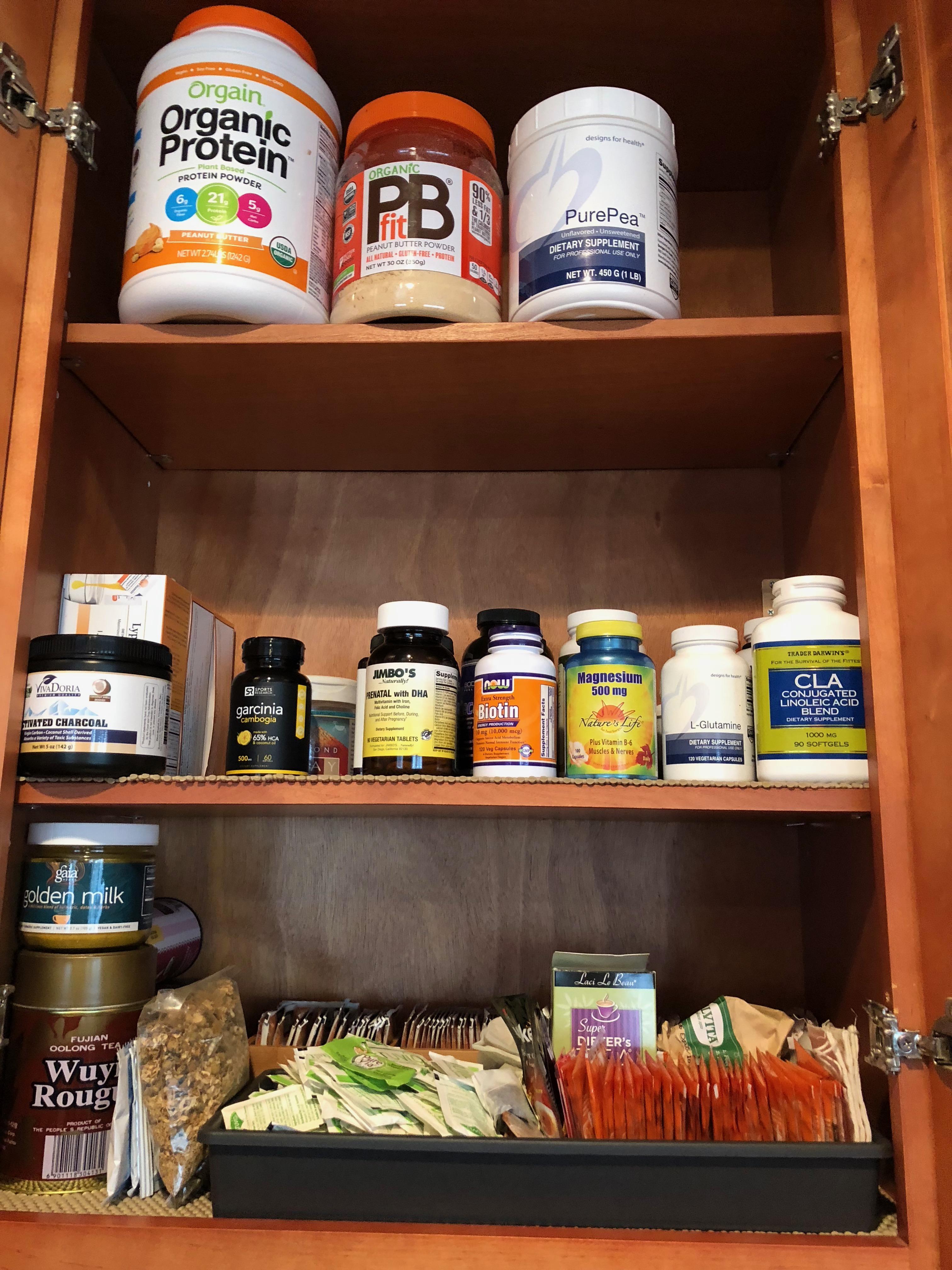 After: Vitamin/Tea Cabinet