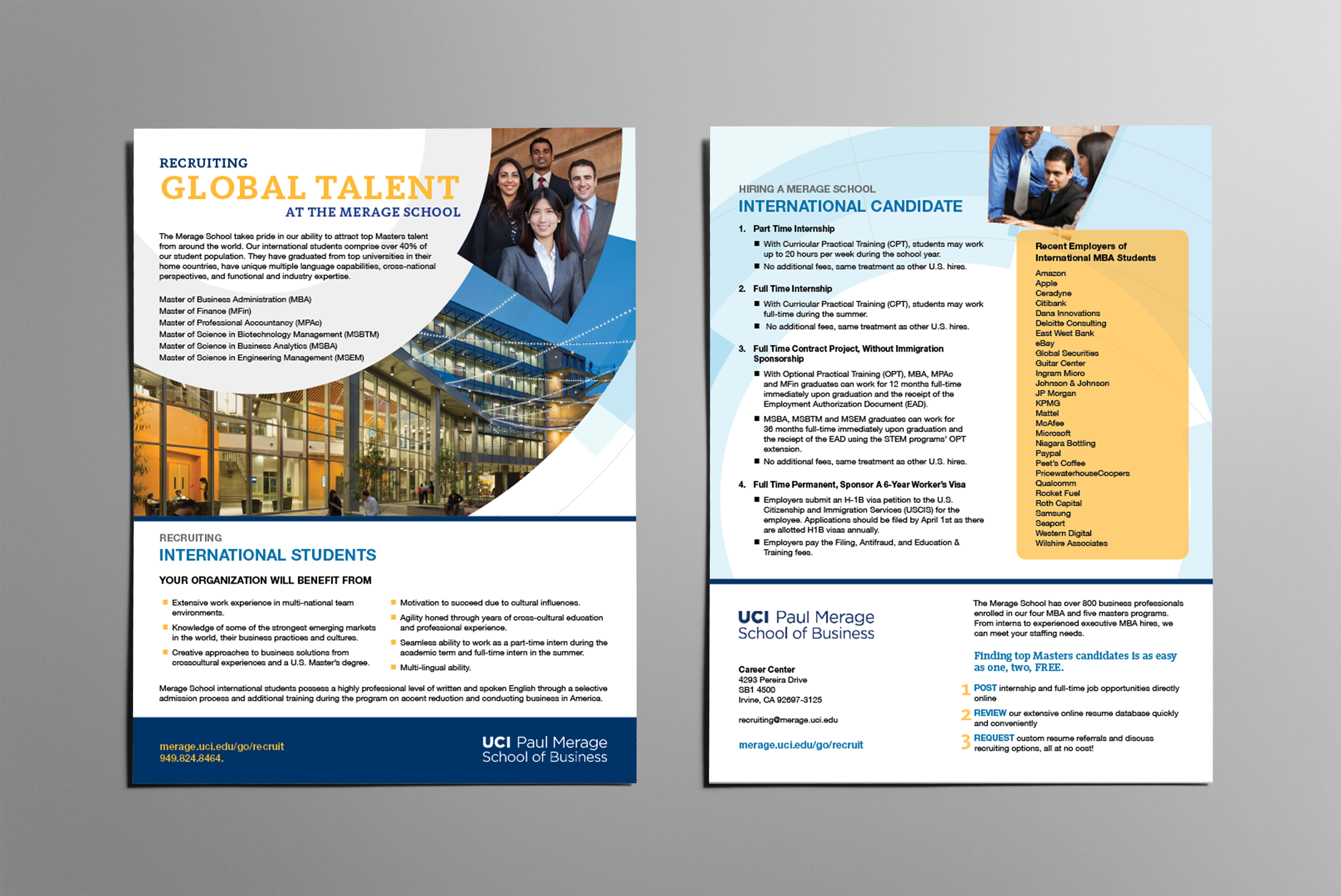 MBA Global Talent Flyer