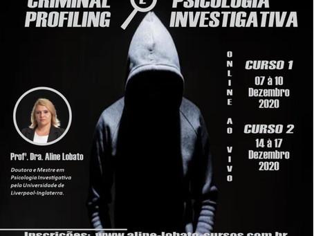 Cursos sobre criminal profiling e psicologia investigativa estão com inscrições abertas