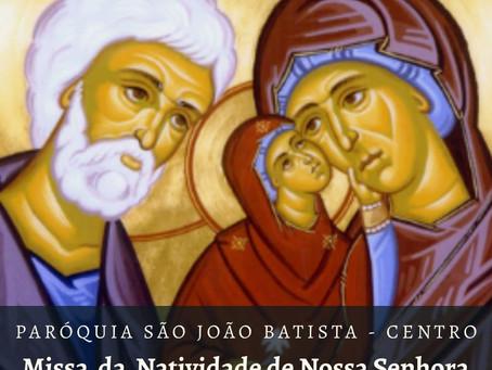 Paróquia realiza missa em celebração ao nascimento de Maria