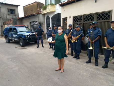 Veterana da Guarda Municipal de São Luís é homenageada em seu aniversário