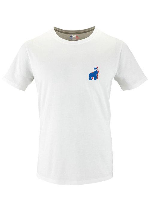 Tee-shirt Bio homme ( bleu blanc king )