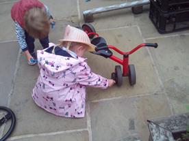 Repairing the bikes