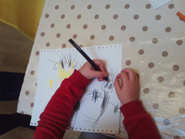 Lots of mark making