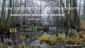 How consumers feed the data economy ... Industries  extract value from the data swamp