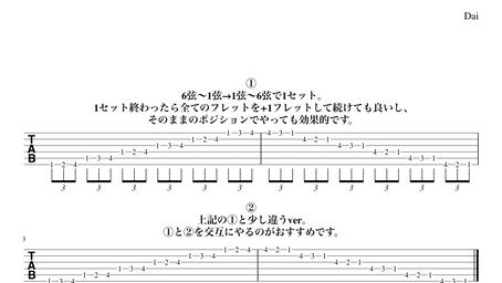 最近ハマっている効果的なギターの基礎練習【イモムシの応用→「虫食いイモムシ」】