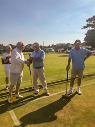 Tim Hughes winner High Handicap Challenge East Dorset CC 3rd July 2019